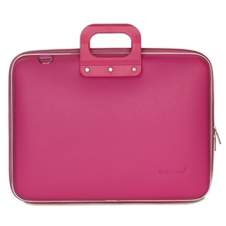 "Geanta lux business/laptop 17"" Maxi Bombata-Roz inchis"