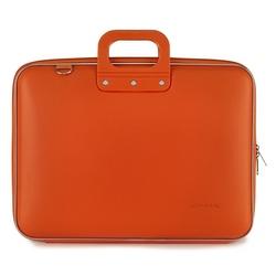 "Geanta lux business/laptop 17"" Maxi Bombata-Portocaliu"