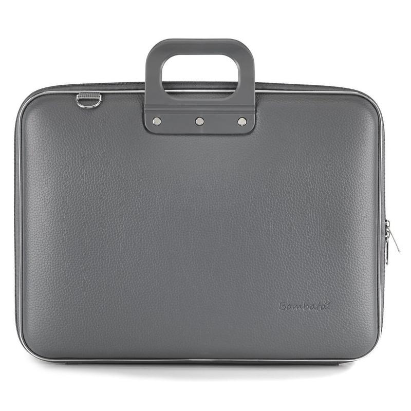 """Geanta lux business/laptop 17"""" Maxi Bombata-Gri Bombata-crem"""
