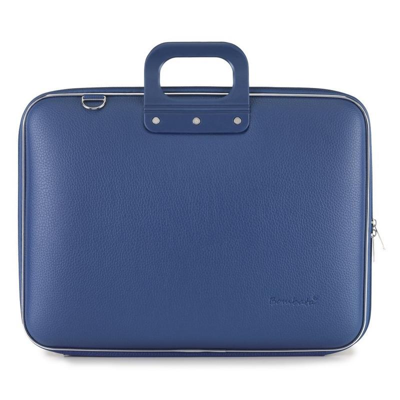 "Geanta lux business/laptop 17"" Maxi Bombata-Albastru cobalt"