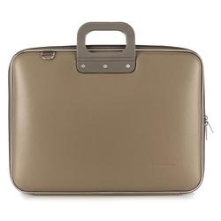 "Geanta lux business/laptop 17"" Maxi Bombata-Grej"