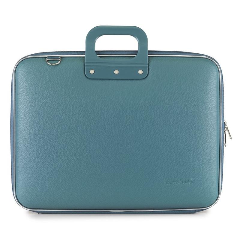 "Geanta lux business/laptop 17"" Maxi Bombata-Turqoise inchis"