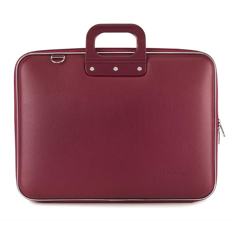 "Geanta lux business/laptop 17"" Maxi Bombata-Grena"