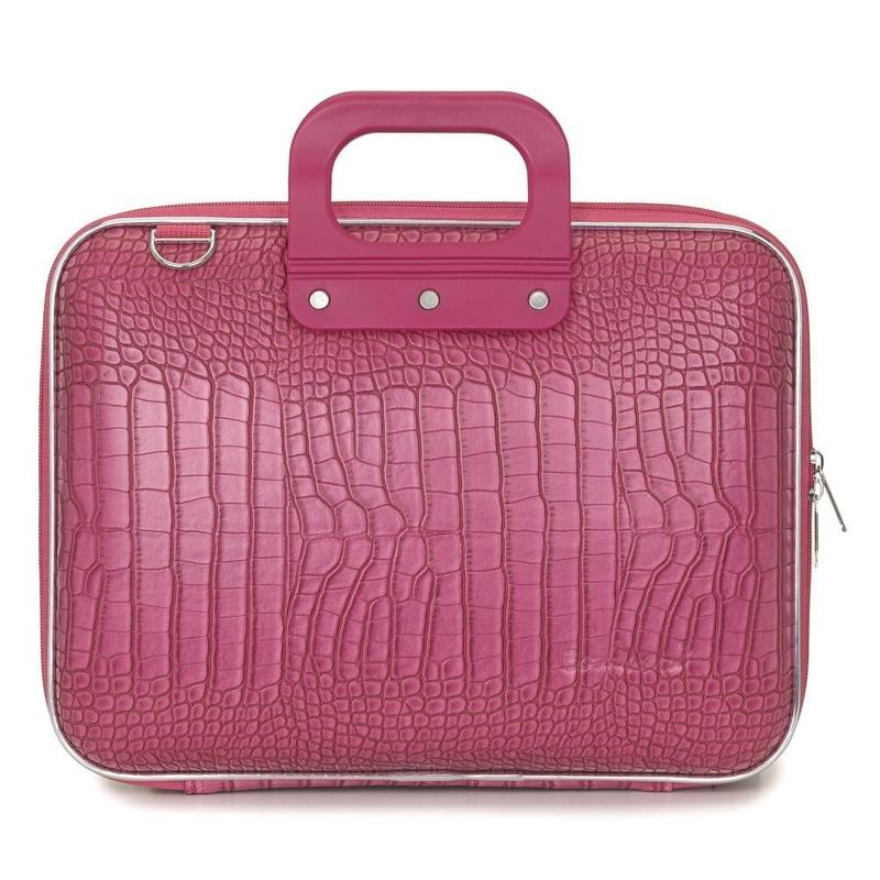 "Geanta lux business/laptop 13"" Cocco Bombata-Roz inchis"