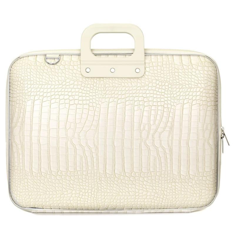 "Geanta lux business/laptop 17"" Cocco Bombata-Alb"