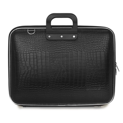 "Geanta lux business/laptop 17"" Cocco Bombata-Negru"