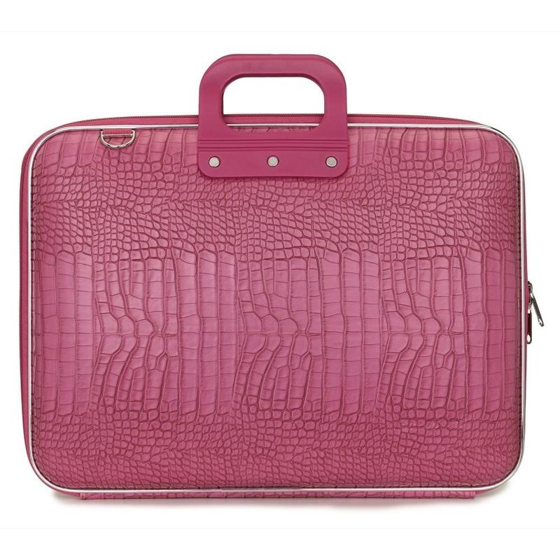 "Geanta lux business/laptop 17"" Cocco Bombata-Roz inchis"