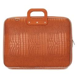 "Geanta lux business/laptop 17"" Cocco Bombata-Portocaliu"