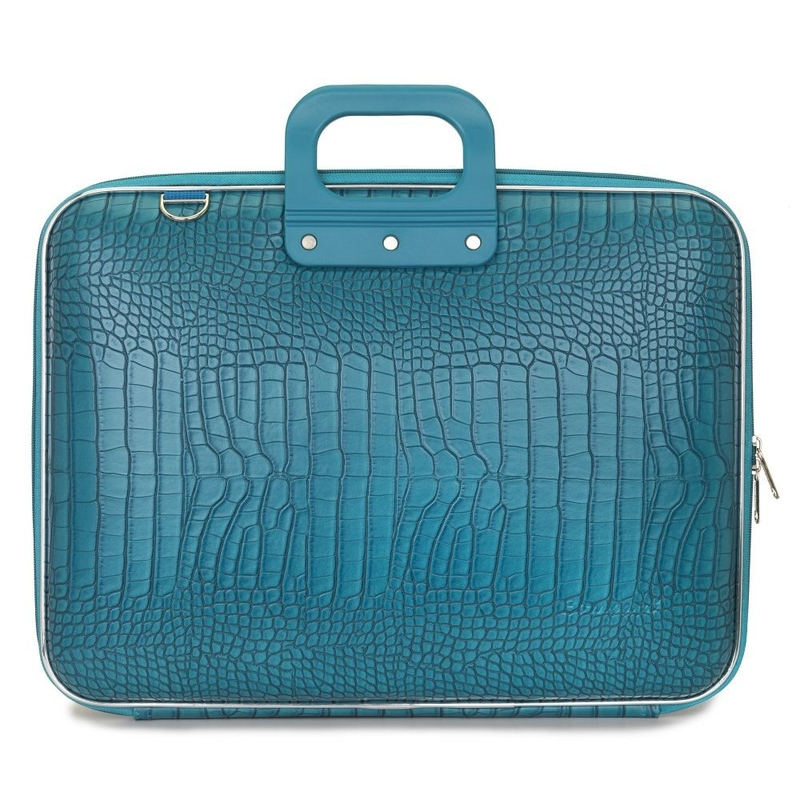 "Geanta lux business/laptop 17"" Cocco Bombata-Turqoise"