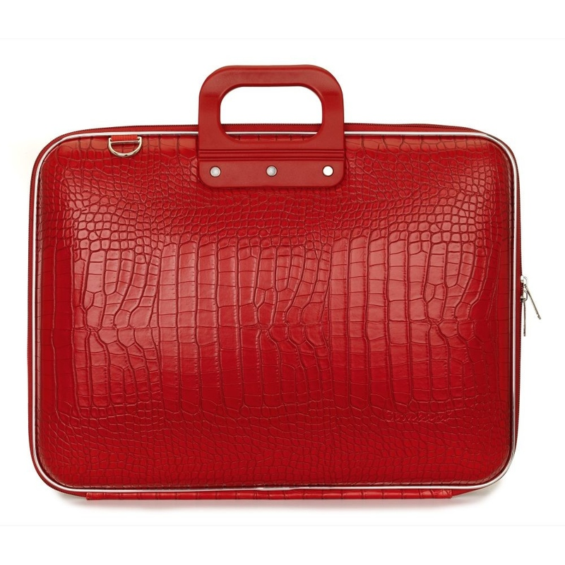 "Geanta lux business/laptop 13"" Cocco Bombata-Rosu aprins"
