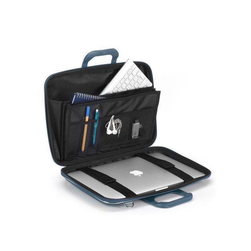 "Geanta lux business/laptop 17"" Maxi Bombata-Portocaliu interior"