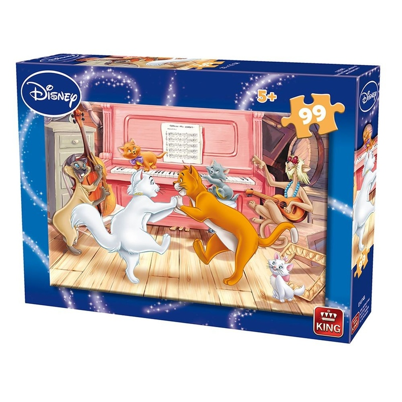 Puzzle 99 piese Aristocats & Lady And The Tramp