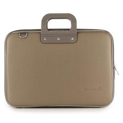 """Geanta lux business/laptop 13"""" Clasic vinil Bombata-Grej"""