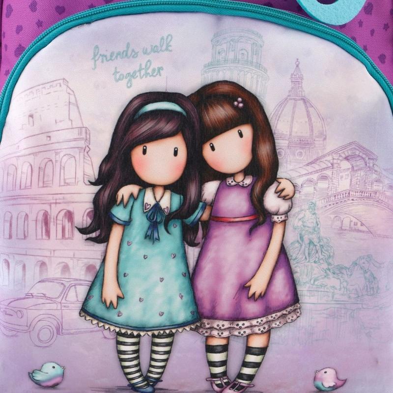 Gorjuss Cityscape rucsac fermoar dublu - Friends Walk Together