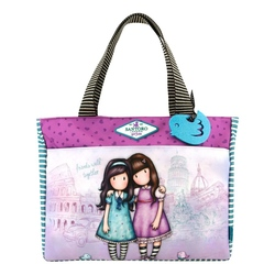 Gorjuss Cityscape geanta shopping - Friends Walk Together