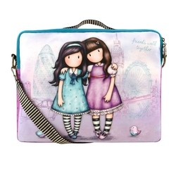 Gorjuss Cityscape Geanta laptop - Friends Walk Together