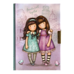 Gorjuss Cityscape Jurnal cu cheita - Friends Walk Together