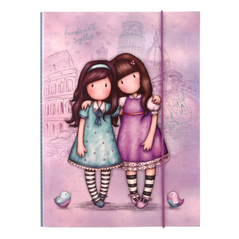 Gorjuss Cityscape Dosar cu elastic - Friends Walk Together