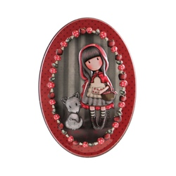 Gorjuss Cutie metalica ovala - Little Red Riding Hood