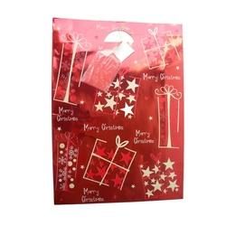 Punga XL rosie lucioasa model iarna