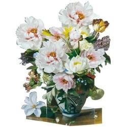 Felicitare 3D - Flori de gradina