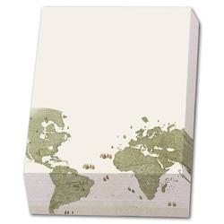 Bloc notite cu 164 file Wall map of the world-Joan Blaeu