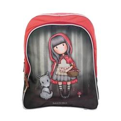 Gorjuss-Ghiozdan soft cu glitter-clasa 0-Little Red Riding Hood