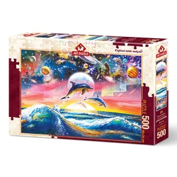 Puzzle 500 piese - UNIVERSAL DOLPHINS