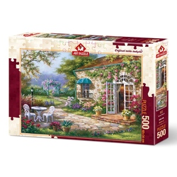 Puzzle 500 piese - Spring patio II-SUNG KIM