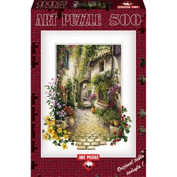 Puzzle 500 piese - IN THE SMALL FLOWER VILLAGE