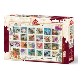 Puzzle 500 piese - STAMP COLLAGE