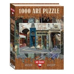 Puzzle 1000 piese - din lemn CAFE LEON
