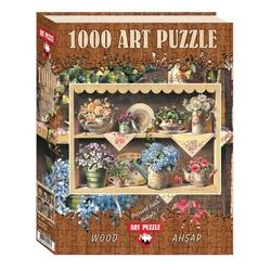 Puzzle 1000 piese - din lemn CUPBOARD GARDEN