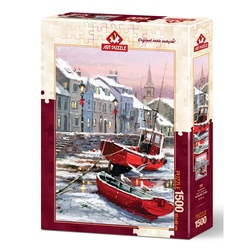 Puzzle 1500 piese - WINTER S RESIDENTS