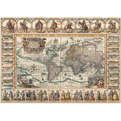 Puzzle 2000 piese - Ancient World Map