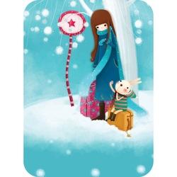 Felicitare Eclectic - Waiting. O felicitare care aduce spiritul iernii in sufletul celor dragi.