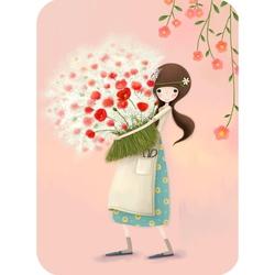 Felicitare Eclectic - Pretty As A Flower. O felicitare perfecta pentru cei dragi.