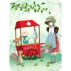 Felicitare Eclectic - An Apple A Day Felicitare Eclectic - Un mar, o zieste o felicitare perfecta pentru tine.