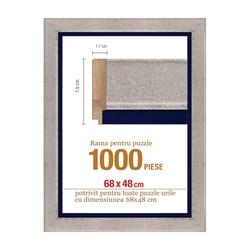 Rama puzzle 1000 p - auriu sidefat - grosime 7.5 h 1.9- 68 x 48 cm