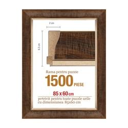 Rama puzzle 1500 p.maron deschis striat-groasa 6.3xh2.0- 85 x 60 cm