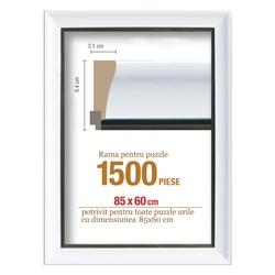 Rama puzzle 1500 p -alb - grosime 8.3 h 3.1- 68 x 48 cm