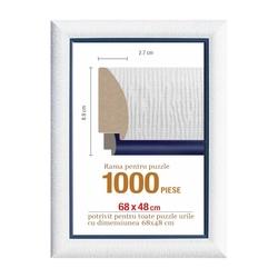 Rama puzzle 1000 p - alb striat-bleumarin - grosime 8.9 h 2.7- 68 x 48 cm
