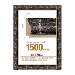 Rama puzzle 1500 p - negru-crem-groasa 7.2xh1.9- 85 x 60 cm