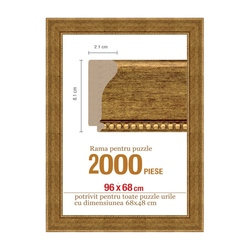 Rama puzzle 2000 p - maron deschis - groasa 8.1xh2.1- 96 x 68 cm