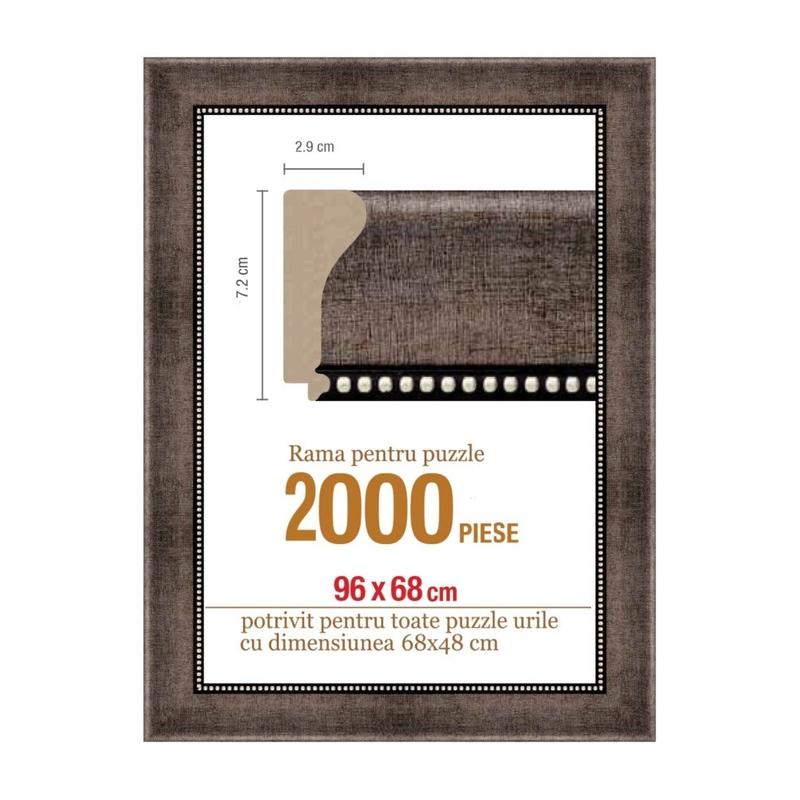 Rama puzzle 2000 p - maron gri- groasa 7.2xh2.9- 96 x 68 cm