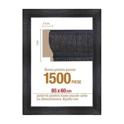 Rama puzzle 1500 p -neagra - grosime 7xh2.3 - 85 x 60 cm