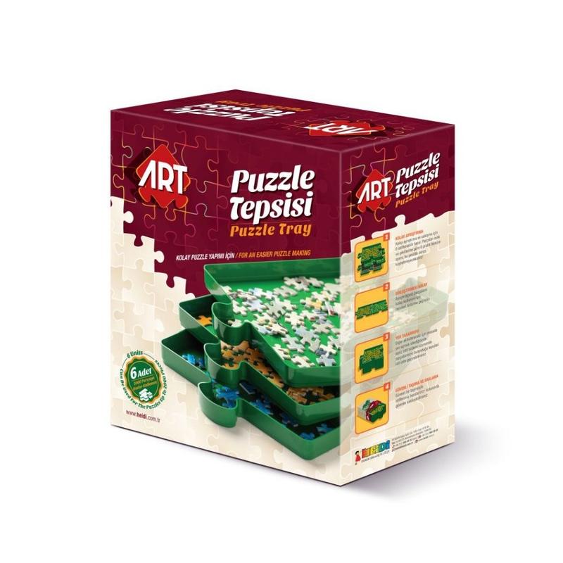 Puzzle accesorii-set tavi sortare a pieselor de puzzle