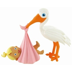 Figurina Comansi - Moments-Stork with Baby Girl