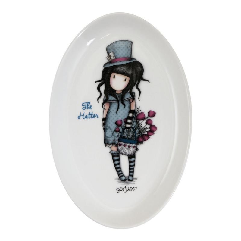 Gorjuss Farfurie ceramica - The Hatter