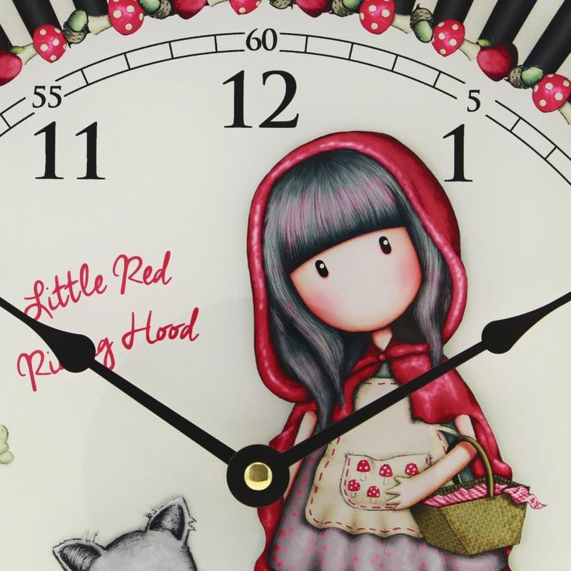 Ceas de perete Gorjuss - Little Red Riding Hood
